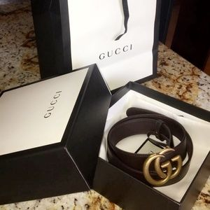 Dark Brown Gucci Belt Size 80/32 , Mens belt